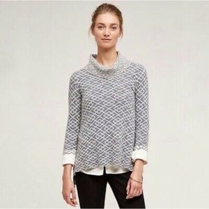 ANTHRO MOTH COWL NECK GALENA PULLOVER SWEATER